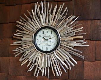 Driftwood Clock Etsy