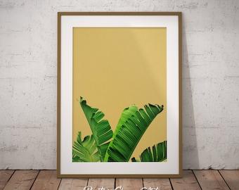 Banana Leaf, Banana Leaf Print, Banana Leaf Printable, Banana Leaf Art Print, Tropical Leaf Print Art, Banana Leaves Wall Decor, Plant leaf