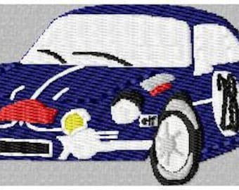 Renault alpine embroidery design embroidery pattern