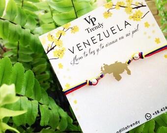 Venezuela Bracelet, Pulsera de Venezuela, Pulsera de venezuela, Brazalete de venezuela