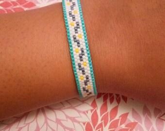 Miyuki peyote stitch beaded bracelet