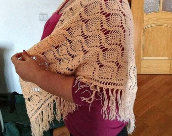 Handmade crochet cape
