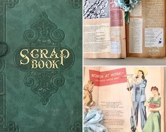 Vintage WWII Era Scrapbook - Poetry-1940's