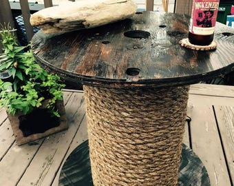 Wire Spool End Table