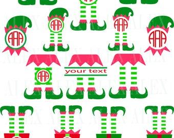 70% OFF, Elf Monogram SVG, Christmas Monogram Frame, Elf png, eps, svg, dxf, Elf Clipart, Christmas Elf Monogram Frame, Elf svg Cut File