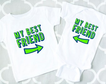 BFF Shirts, Matching Sibling Clothes, Twin Outfits, My Best Friend Shirts or Bodysuit Set, Brother Shirts, Sister Shirts, Cousin Shirts