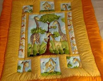 """""""Family Giraffe"""" quilt"""