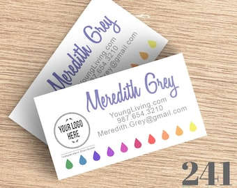 Young Living Essential Oils Business Card - Digital Download