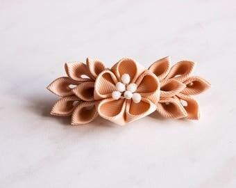 Kanzashi hair clip, hair ornament handmade