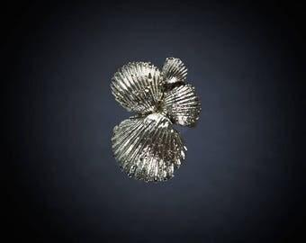 handmade 925 Silver ring shell%