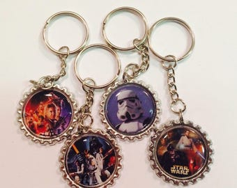 Star Wars Keychains, Han Solo, Luke Skywalker, Darth Vader