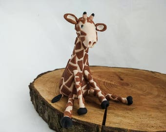 Giraffe edible fondant cake topper ( jungle, safari animal)