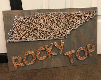 Tennessee lady vols string art