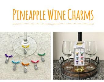 Pineapple Wine Charms