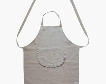 Apron Nelma linen - apron - cooking apron - linen apron