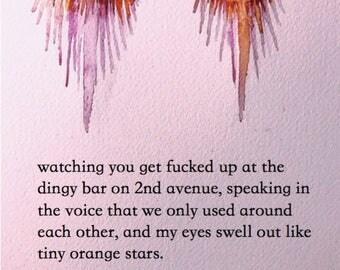 tiny orange stars