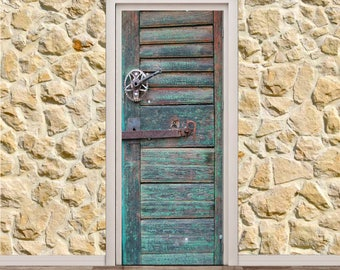 "Old Wood Door Poster/Sticker (30"" x 79"" 