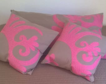 Pink pillow set Accent pillow covers Decorative pillow