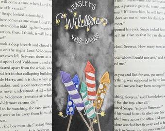 Weasley Wildfire Wiz-Bangs bookmark, Harry Potter
