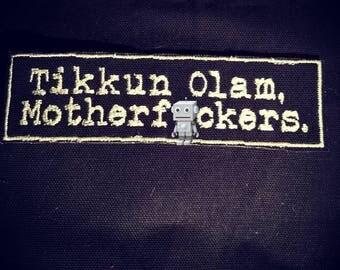 Tikkun Olam Motherf*cker Patch Jewish Judaica