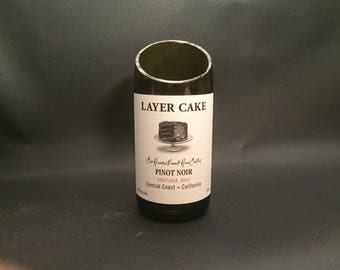 HANDCRAFTED Candle UP-CYCLED Layer Cake Pinot Noir  Wine Bottle Soy Candle. Made To Order !!!!!!!