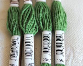 Green cotton yarn for canvas plied DMC 89 N 2987