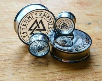 Valknut Trinity Clear Plugs (10mm, 12mm, 14mm, 16mm, 18mm, 20mm and more)