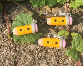 Polymer Clay Pencil Charm, planner charm, kawaii charm