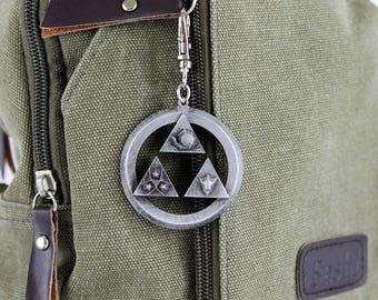 Legend of Zelda Spiritual Stone Pendant Aluminum Keychain/Necklace