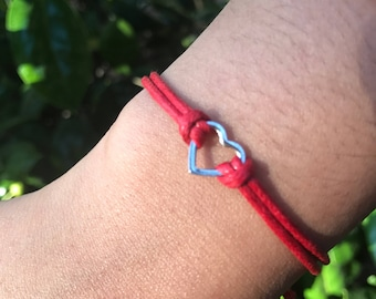 Red Thread / Heart Friendship Bracelet