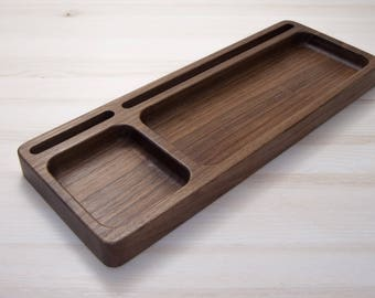 Wooden Desk Organizer Tray