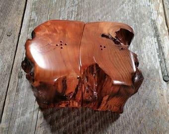 Redwood Rustic or Root Salt and Pepper Shakers Set Handmade #J