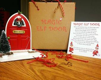 Elf Door with poem
