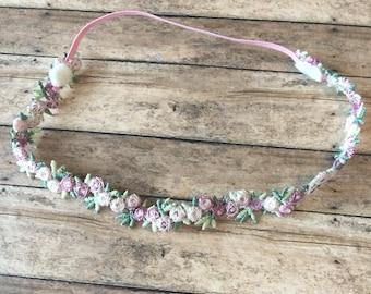 Newborn/Toddler Rose hairband/simole flower girl hair accessory