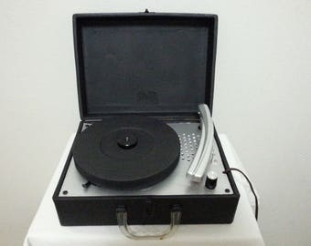 Vintage Beam Sonata Mini Portable Record Player/Good Working Condition