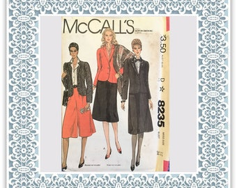 McCalls 8235 (1982) Misses' jacket, skirt, and culottes - Vintage Uncut Sewing Pattern