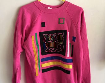 Vintage 80s handmade sweater