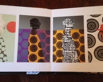 Art book, mixed media, flush Mount album, Suze LaRousse, Artlovers, photography, artist, original signed, photo album, personalized