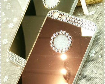 iPhone 6 plus mirror case with rhinestone