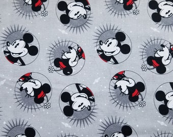Disney Mickey Mouse Fabric -Smile Cotton Fabric