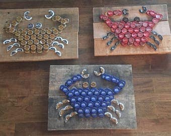 Bottle Cap Wall Art lobster bottle cap wall art