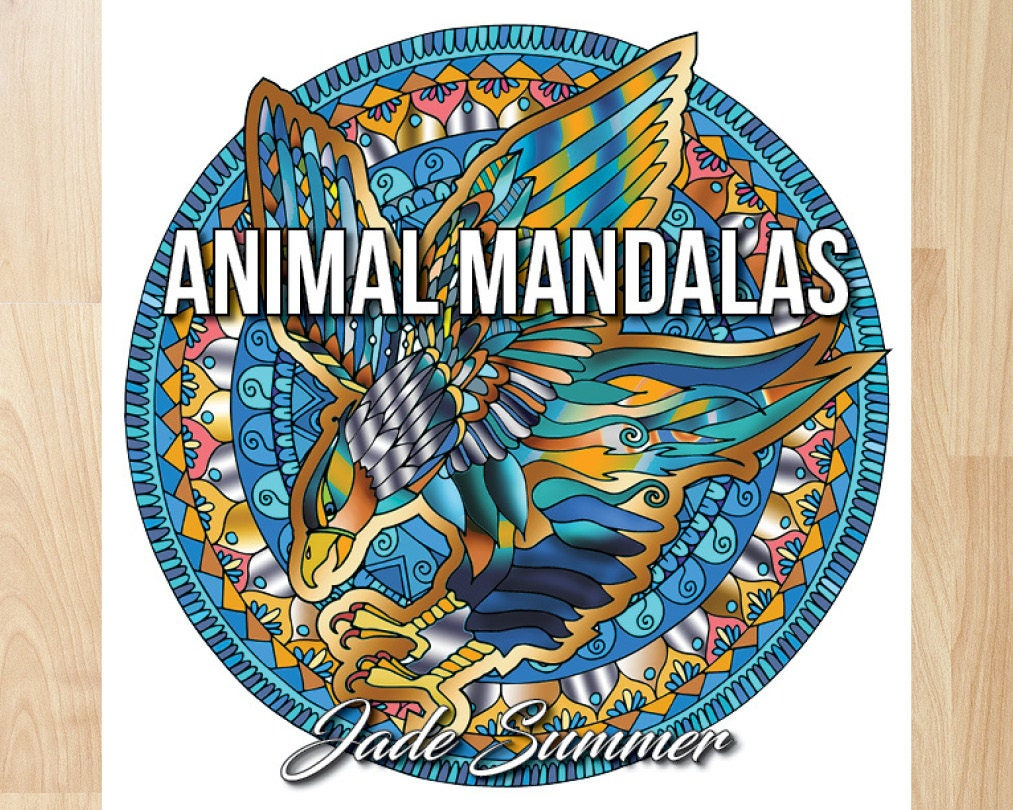 Animal Mandalas By Jade Summer Coloring Books Pages Adult