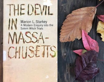 Vintage book Salem witch trials  paperback The Devil in Massachusetts A Modern Inquiry into the Salem Witch Trials