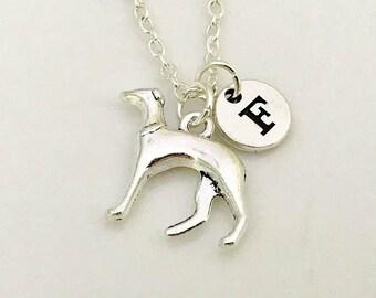 Greyhound Dog Necklace, Dog Jewelry, Greyhound Pendant, Greyhound Jewelry, Animal Necklace, Pet Dog jewelry, Dog Lover Necklace, Silver dog