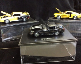 Three Vintage Die Cast Sportscar Models