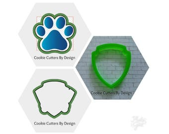 Badge Cookie Cutter / Paw Patrol Logo / Paw Print