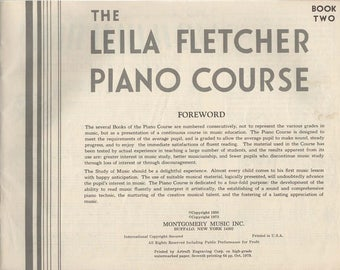 The Leila Flectcher Piano Course Book Two 1973