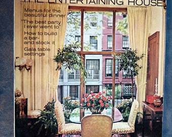 House Beautiful November 1968 Magazine The Entertaining House Issue