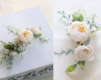Floral Hairpieces comb bridal bridesmaids