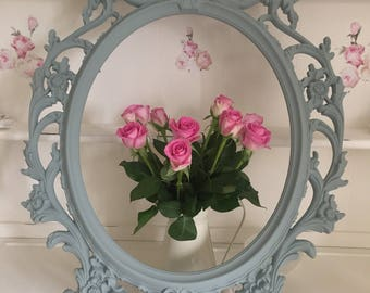 Shabby Chic Ornate Frame Painted Photo Picture Frame Vintage Baroque Frame Wall Decor Wall Gallery Open Frame .